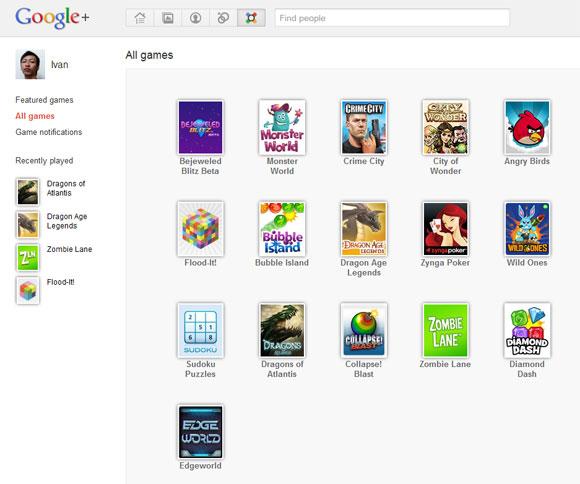 Google Plus Games