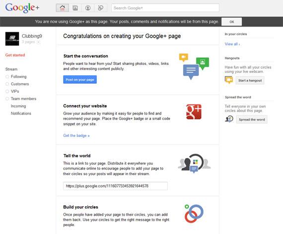 google pluspage create guide