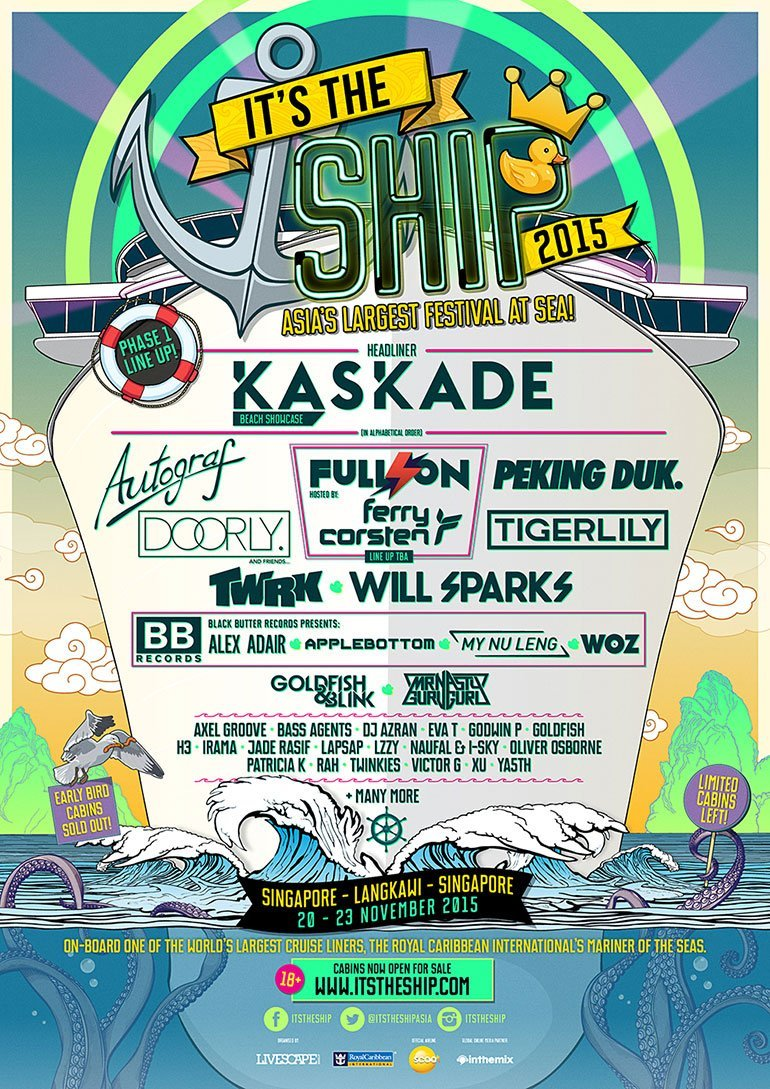 It's The Ship 2015 Poster Phase 1 Lineup