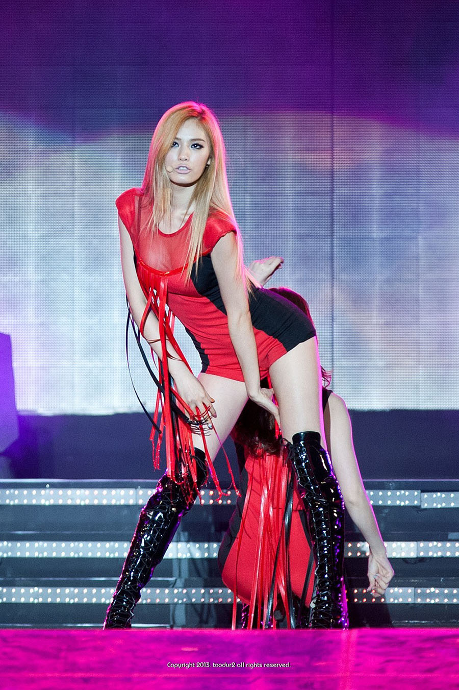 nana-hot-red-outfit