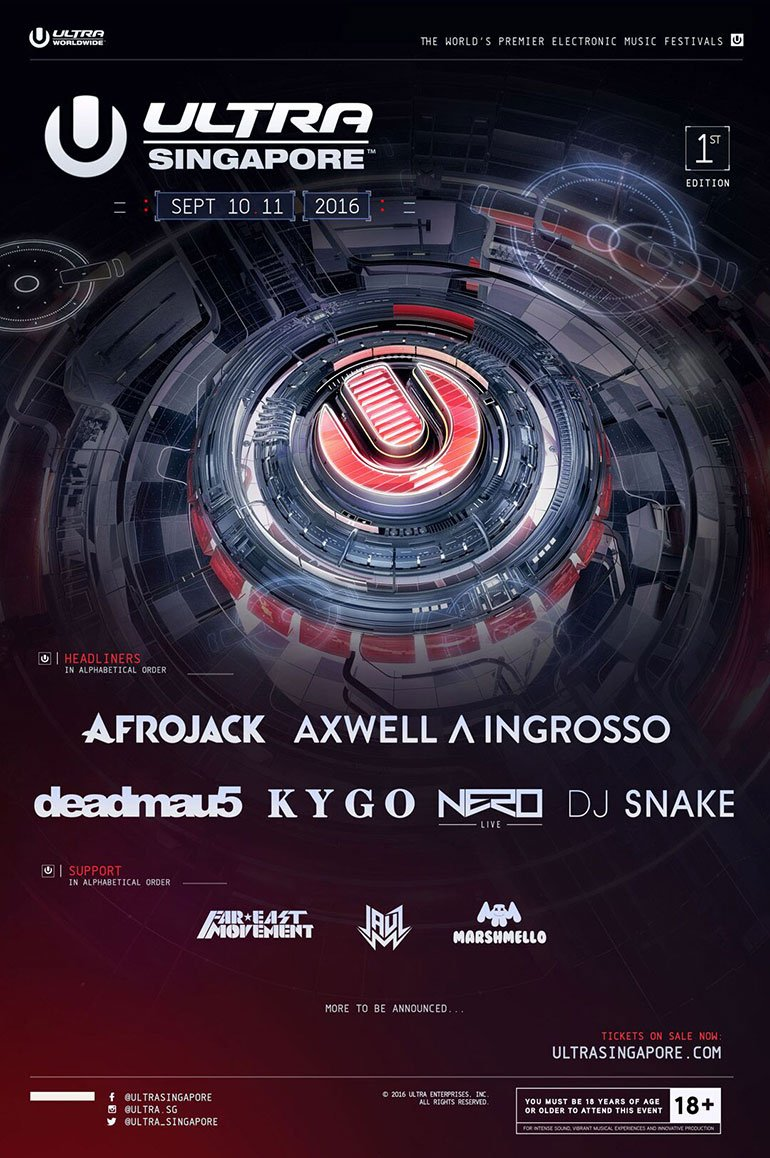 Ultra Singapore Phase 1 Lineup