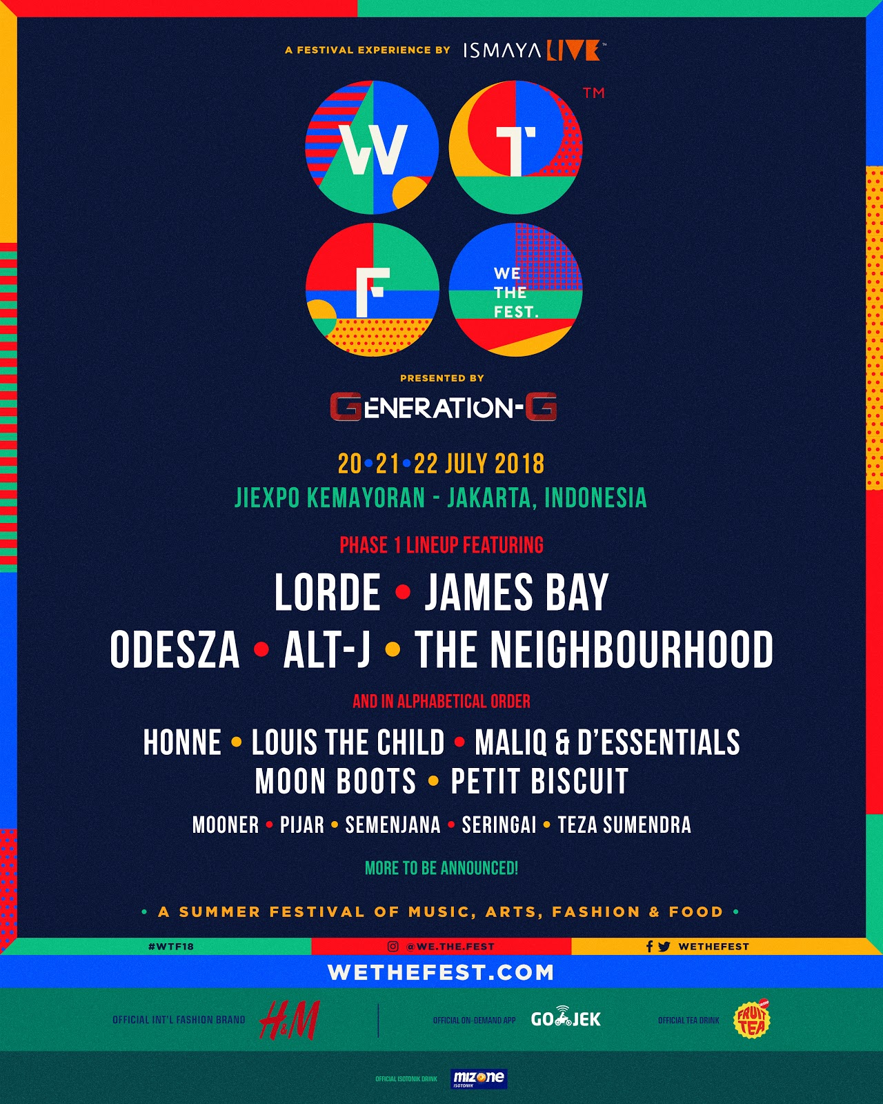 WTF We The Fest 2018 Lineup