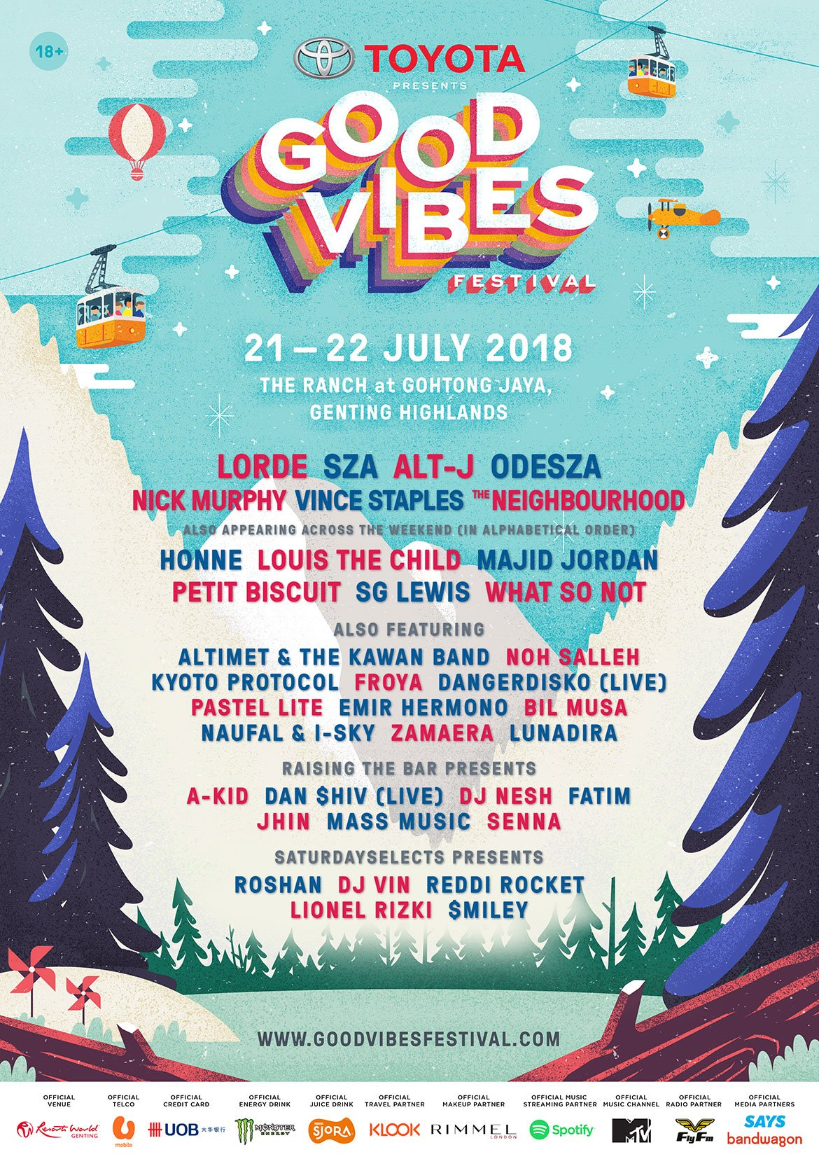 Good Vibes Festival 2018 Genting Poster