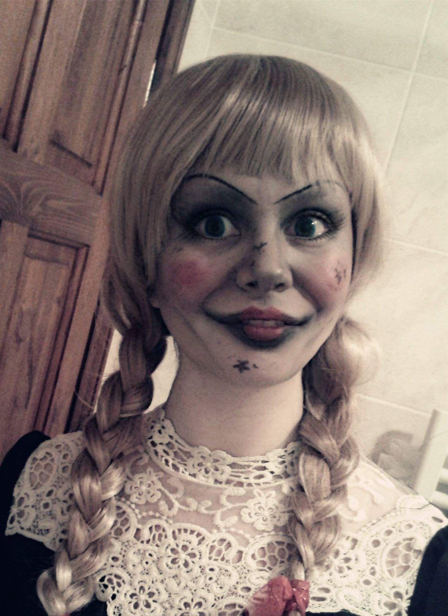 Annabelle Halloween Makeup