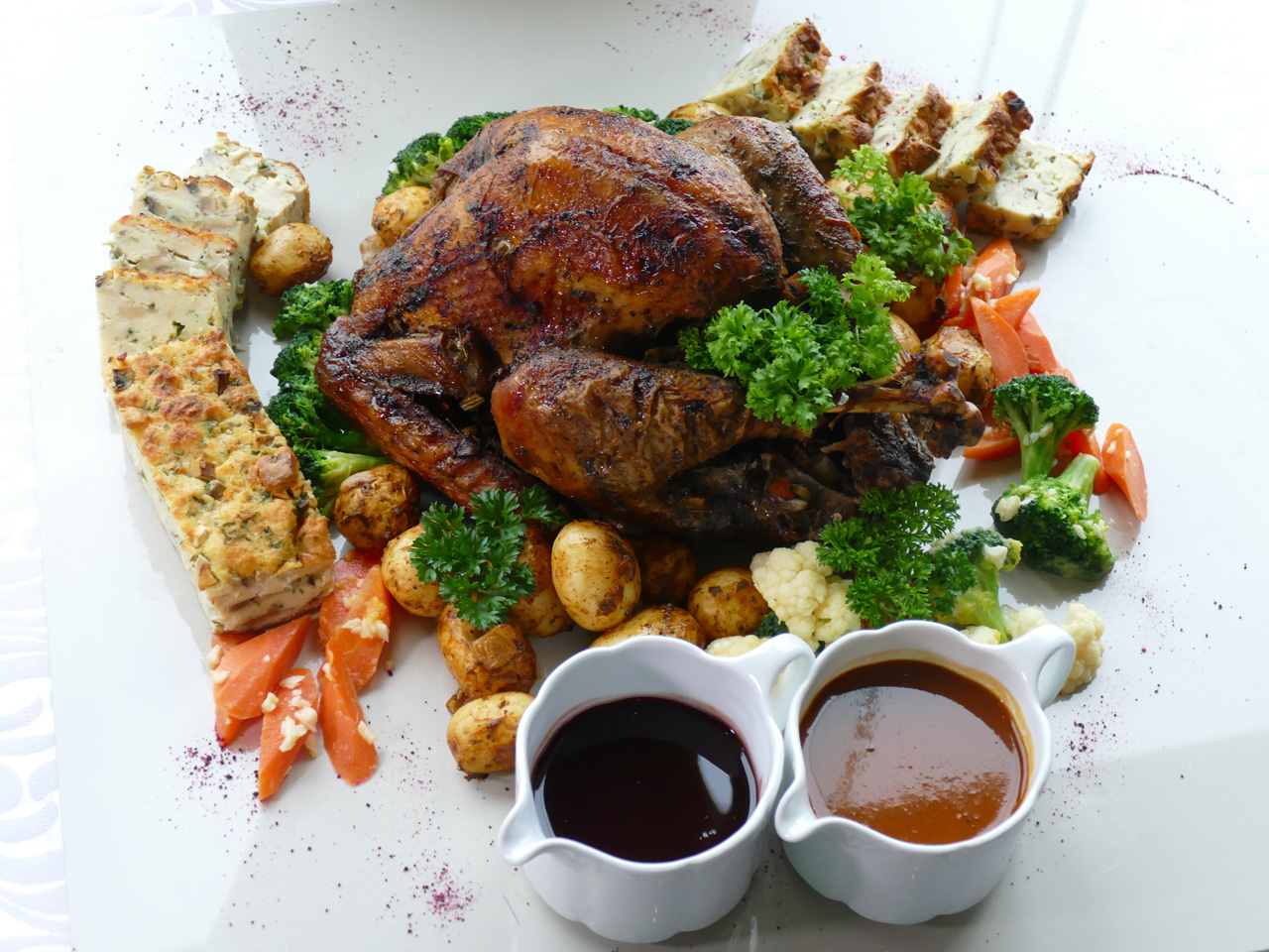 Photo 5 For Take Away Whole Roasted Turkey with potato vegetables Cranberry juice turkey juiceat RM288.00 Bubbles Bites