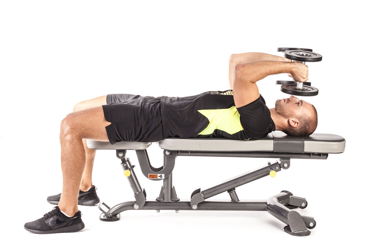 Best Workout Technique #8 - Lying Dumbbell Triceps Extension Exercise