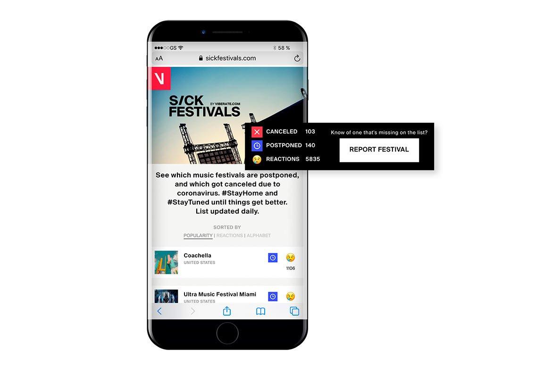 Sickfestivals.com offers list of Canceled & Postponed Festivals Update